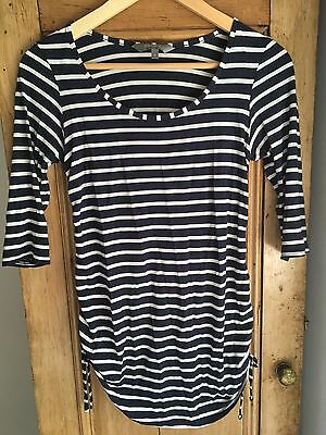 Maternity New Look Stripy Top Size 10