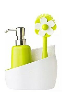 Vigar Washing-Up Set Pile with Soap Dispenser and Brush Green/White