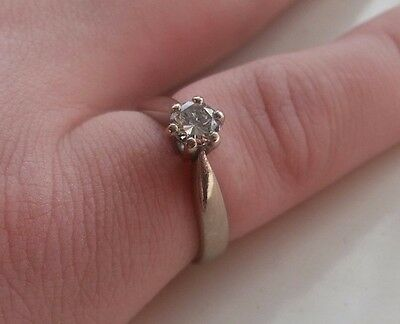 18ct White Gold 0.40ct Solitaire Diamond Engagement Ring, Size J