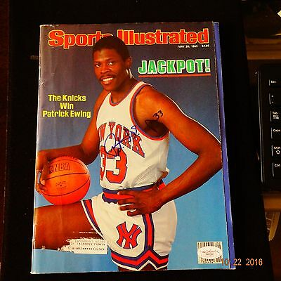 Patrick Ewing Signed Sports Illustrated Rookie Year Auto Coa Jsa