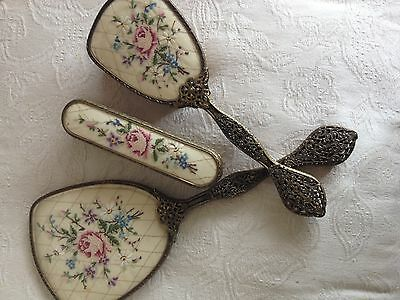 Exquisite Vintage Dressing Table Brush's Mirror Set