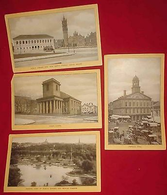 """4 VINTAGE SINGER SEWING SOUVENIRS Of BOSTON TRADE CARDS/4.5"""" x 7.5""""/lot 2"""