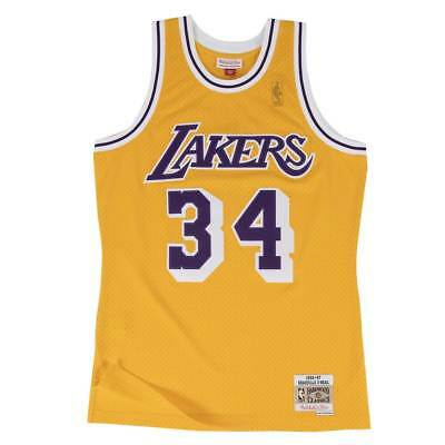 Mitchell & Ness Shaq O'Neal #32 LA Lakers 1996-97 Swingman NBA Trikot Gelb