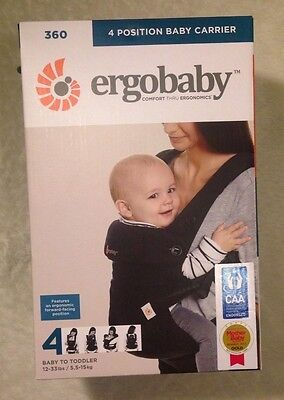 Ergobaby Four-Position 360 Carrier - Pure-Black