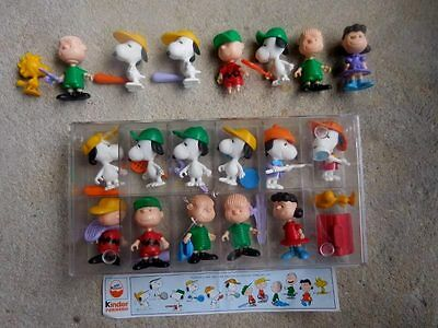 Peanuts Gang Snoopy Charlie Brown Lucy Linus Mini Figures Set By Kinder + Extras