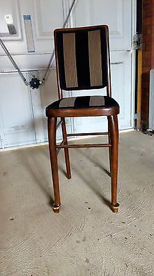 antique wooden hall chair edwardian style - re upholstered