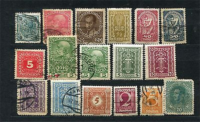 Austria, lot of early stamps, Osterreich and Deutschosterreich, mainly used