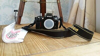 Nikon F80 35mm SLR Film Camera Body Only manual + neck strap