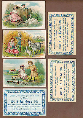 CHILDREN: Complete Set of RARE German Victorian A LA ROSE Trade Cards (1900)