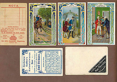FREDRICK THE GREAT: Complete Set of RARE Victorian Trade Cards (1900)