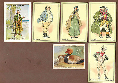 TYPE CARDS: Collection of 6 LARGE Scarce PLAYER'S Tobacco Cards (1914)