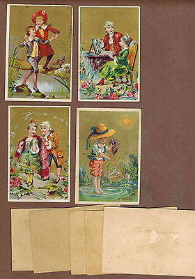 TYPE CARDS: Collection of RARE Victorian Trade Cards from GERMANY (1900)a