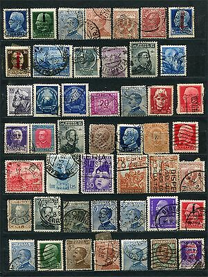 Italy, lot of early and modern stamps, used