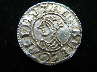 Anglo-Saxon-CNUT -(1017-1023) Quatrefoil Silver Penny. S1157, N781.