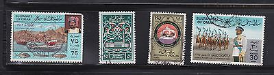 4 Oman stamps all fine used. Cat. £12