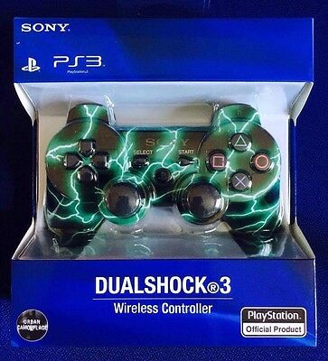 Sony PS3 Wireless Controller (Cam Green & Black)