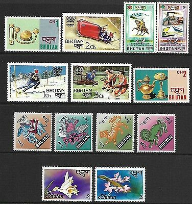 Bhutan A Selection Of (13) Stamps