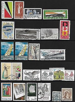 SWEDEN A selection of (24) stamps