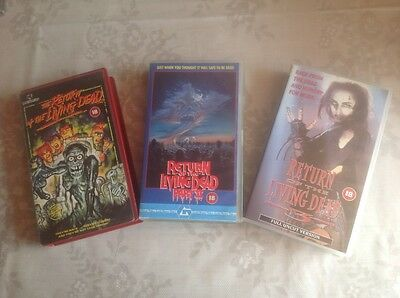 The Return of the living dead 1 2 3 trilogy VHS pre cert horror