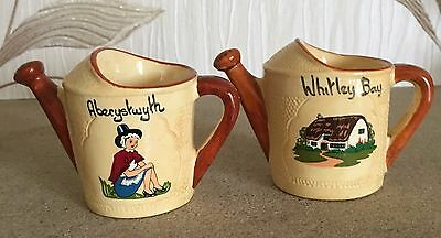Manor Ware Watering Cans Souvenir Whitley Bay Aberystwyth Collectables