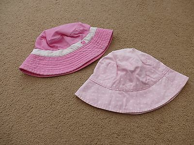 Girls Summer Hats Beanie Style x2 Size 3-5 Years