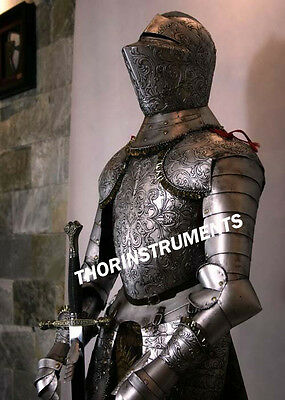 Medieval  Knight  Full Suit Of Armor Collectible Armor Costume