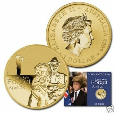 2009 Australia Anzac Day Lest We Forget $1 Coin
