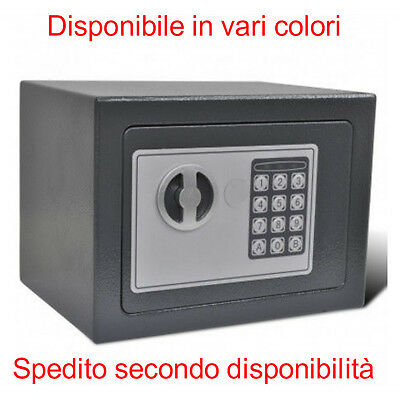 Mini Cassaforte in ferro da Parete con Tastierino Digitale due chiavi Sicurezza