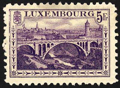 Luxembourg 1921-34 Sc130 Valuable Vintage Stamp High CV MH G-F