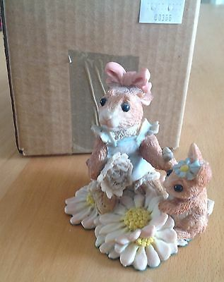 cws real musgrave bunnies in bloom DUSTING THE DASIES *signed piece*