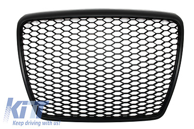 Front Grille Audi A6 4F2 C6 RS Design 07-11 Grill W/O Badge+Plate Support