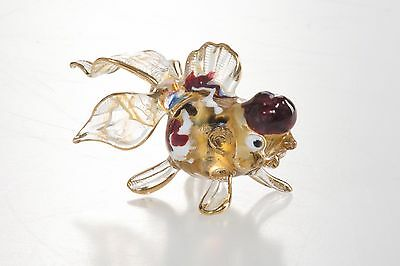 Gold Fish Chuppy Hand Blown Blowing Glass Art Animal Fancy Collectibles
