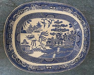 Large Staffordshire pottery meat platter