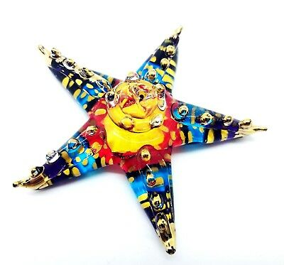 Star Fish Colorful Hand Blown Blowing Glass Art Animal Fancy Collectible