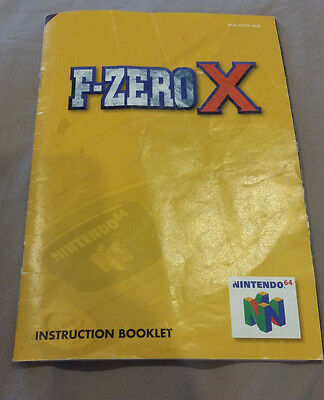 F-Zero X Instructional Booklet and Consumer Information Guide