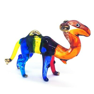 Mini Camel Hand Blown Blowing Glass Art Animal Fancy Collectible