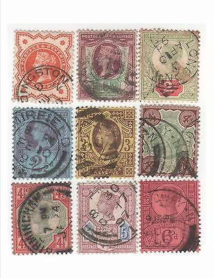 Great Britain 1887-92, Queen Victoria Jubilee Issue, Scott #111-119, Used