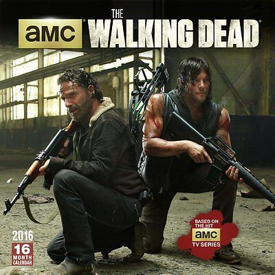 The Walking Dead by AMC 2016 Calendar Sealed Zombie Apocalypse TV Series New