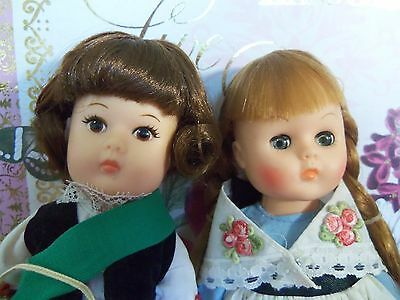 """Lot of Two 1977 Vogue Ginny 8""""   Far Away Lands Girl  Dolls NICE"""