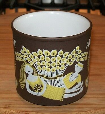 FAB 70s HORNSEA POTTERY LOVE MUG for AUGUST by KENNETH TOWNSEND vintage retro