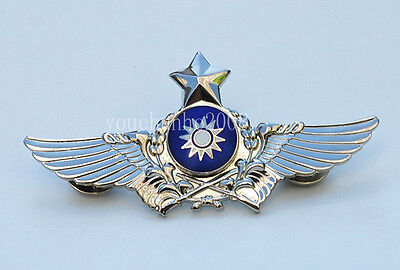 The Badge Of The Chinese Army Aviation Flight Badge Silver Insignia-33178