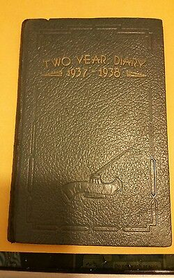 Antique (1937-1938) Personal two year diary. Mr. SD. Allen from Tuscaloosa,AL.