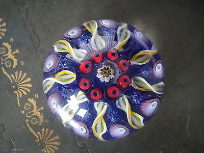 Vintage Glass Paperweight, Millefiore cane - Mid 20thC