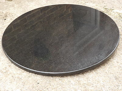 Polished Black Circular Natural Granite Table Tops