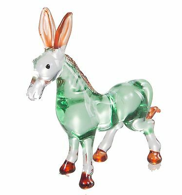 Little Donkey Hand Blown Blowing Glass Art Animal Fancy Collectible