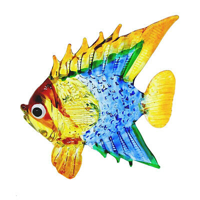Fish Multi-Color Hand Blown Blowing Glass Art Animal Fancy Collectible