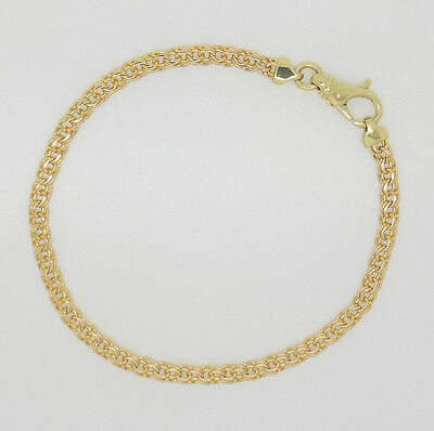 "9ct Yellow Gold 7.5"" Double Curb Link Bracelet 
