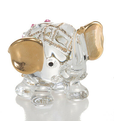 Elephant Clear Chuppy Hand Blown Blowing Glass Art Animal Fancy Collectible