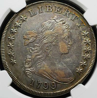 1799/8 Draped Bust Silver Dollar, Slabbed & Graded XF-45, NGC, Ships Free!!