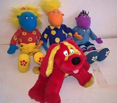 Tweenies Soft Toy Plush Bundle - Milo, Jake, Bella & Talking Doodles the Dog VGC